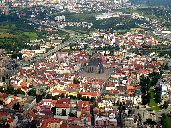 Plzen – aerial view from the south